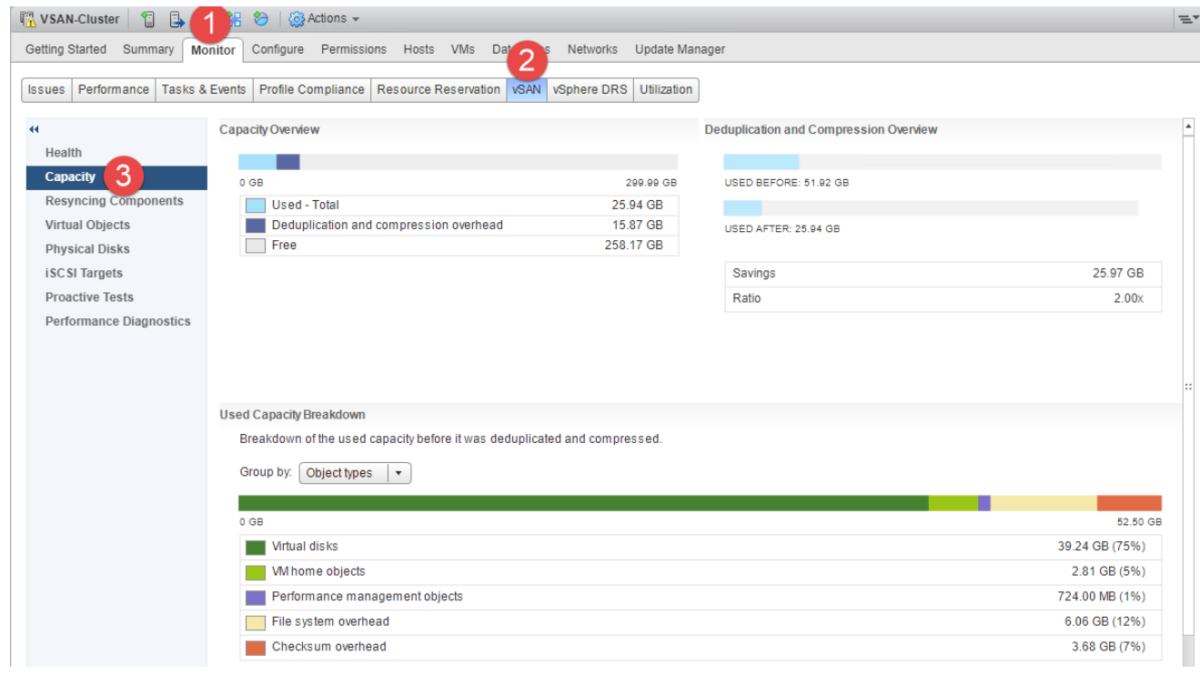 vSAN – Supervision et Reporting
